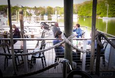 View of Eel Pond from Shuckers, Woods Hole, Falmouth, Cape Cod. http://www.palmerhouseinn.com/cape-restaurant-skuckers/