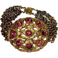 Czech Glass Bracelet, Filigree Floral, Art Nouveau ❤ liked on Polyvore featuring jewelry, bracelets, filigree jewelry, floral jewelry, art nouveau jewellery, gothic jewelry and goth jewelry