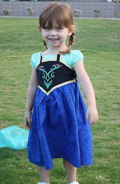 Frozen Inspired Princess Party Dress PDF Sewing by MandyKDesign