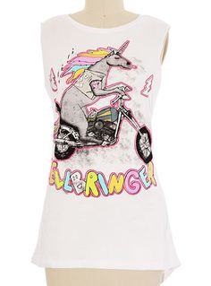 Hellbringer Unicorn Tank Top at PLASTICLAND