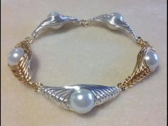 (Tutorial) Herringbone Wire Wrapped Pearl PART 2 (Video 76) - YouTube
