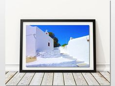 Art for Sale, Mykonos Street Digital Print, Digital Download, Greece Travel Wall Art, Mediterranean Decor, Greek Islands Prints, DIY Home Decor, Gift