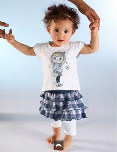 Girl Suit XZ027 Hot Style 2PC T shirt+Skirt Dress Little Girl Clothes ...