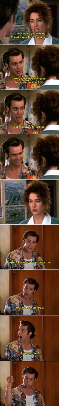 Ace Ventura - Click image to find more Other Pinterest pins -- my favorite comedy!