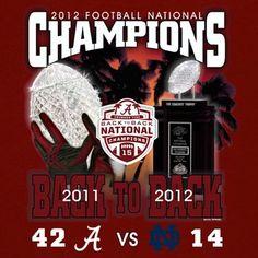 Alabama Crimson Tide 2012 BCS National Champions Back-to-Back Champions Palm Sunset Score T-Shirt - Crimson