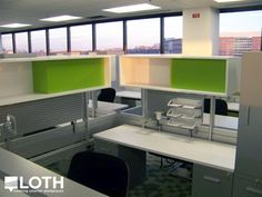 Abbott Nutrition | Columbus, OH project by LOTH, Inc. – Healthcare Industry: individual workstation, slatwall, storage