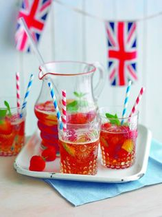 Pimms, yum. Perfect summer drink.