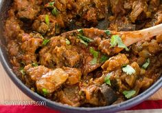 This recipe is dairy free, gluten free, paleo, Whole30, Slimming World (SP) and Weight Watchers friendly Slimming Eats Recipe Extra Easy – 1 syn per serving Original/SP – 1 syn per serving  Chicken and Eggplant Curry  Print Serves 6 Author: Slimming Eats Ingredients 8 boneless/skinless chicken thighs (approx 500g/17.5oz), roughly sliced into smaller...Read More »