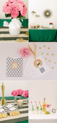 Oscar party | free printable for party here:  http://www.stylemepretty.com/2013/02/24/oscar-party-diys/