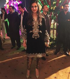 Beutifull wedding party dress in black golden color work embellished with dabka nagh zari and crystals work.(Please Ask Us Your exact Dresses are Manufactured designs/Cutting/stitching Und Velvet Pakistani Dress, Pakistani Formal Dresses, Pakistani Wedding Outfits, Pakistani Dress Design, Indian Dresses, Indian Outfits, Pakistani Party Wear, Bridal Outfits, Bridal Dresses