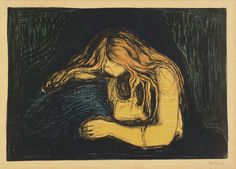 Edvard Munch. Vampyr II (Vampire II). 1895–1902 Although Halloween is the time of horror sequels, Vampire II isn't related to Marcks's bat. In fact, Munch's lush print was originally titled Love and Pain—its vampiric handle came courtesy of the Polish poet and critic Stanislaw Przybyszewski.