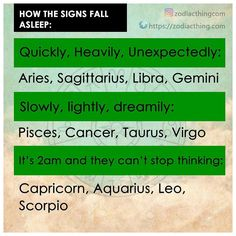 How the signs fall asleep #aries #aries #taurus #taurus #gemini #gemini #cancer #cancer #leo #leo #virgo #virgo #libra #libra #scorpio #scorpio #sagittarius #sagittarius #capricorn #capricorn #aquarius #aquarius #pisces #pisces #zodiac #zodiacsigns #astrologypost #zodiacsign #zodiacthingcom