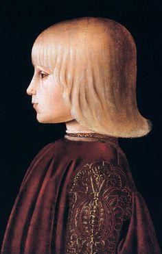 Portrait of a child,1465-70 by Girolamo di Giovanni da Camerino