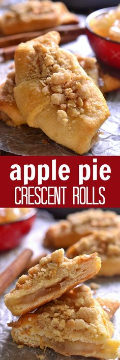 Apple Pie Crescent Rolls – all the flavors of apple pie, without all the work! Apple Pie Crescent Rolls – all the flavors of apple pie, without all the work! Apple Desserts, Fall Desserts, Apple Recipes, No Bake Desserts, Just Desserts, Fall Recipes, Baking Recipes, Delicious Desserts, Dessert Recipes
