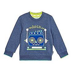 Baker by Ted Baker - Boys' blue robot applique jumper