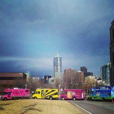 Food Truck Row in Denver, Colorado.