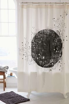 Magical Thinking La Luna Shower Curtain - Urban Outfitters