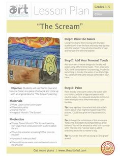 The Scream- Click to Download Free Lesson Plan. A playful lesson where the kids get to decide why the screamer is screaming. The results are hilarious!