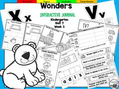 """This+25+page+Kindergarten+interactive+journal+is+aligned+to+Common+Core+and+to+the+McGraw+Hill+Wonders+series+for+Unit+7-Week+3.+Complete+Set+Includes:Mini+Anchor+Chart/Activities+for+Letter+""""Vv""""+and+""""Xx"""",+Cause+and+Effect,+and+Genre+(Fantasy)Handwriting+PracticeCut+and+Paste+Graphic+Organizers++Build+It!"""
