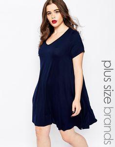 Boohoo+Plus+Jersey+Swing+Dress