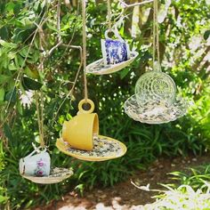 - Birds - Mangeoire à oiseaux # Gär Bird Feeder # Gär Garden Crafts, Diy Garden Decor, Garden Projects, Garden Ideas Diy, Garden Whimsy, Diy Projects, Diy Decoration, Art Crafts, Diy Ideas