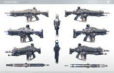 ArtStation - Destiny: Auto Rifle 1A - game resolution, Milton Cadogan
