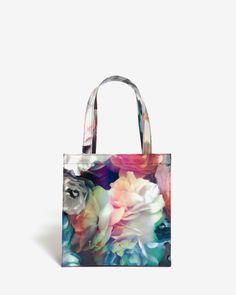 Small Technicolour Bloom shopper bag - Black | Bags | Ted Baker ROW