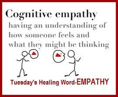 Tuesday's Healing Word is Empathy balancedwomensblog.com