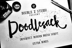 Doodlesack font by DoubleZ Studio on Creative Market #type #lettering #handlettering #font