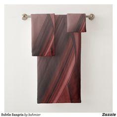 Subtle Sangria Bath Towel Set