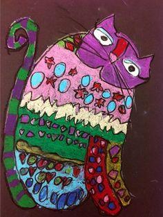 Artsonia Art Museum KIndergarten Fantastic Felines-Brunswick Elem