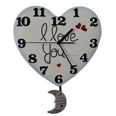 Giftgarden® Heart Shaped Clock I Love You Wall Pendulum C... http://www.amazon.com/dp/B01GC3I1XG/ref=cm_sw_r_pi_dp_83rvxb1AAJE1M