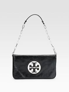 Tory Burch - Reva Leather Convertible Clutch...I want one of those!