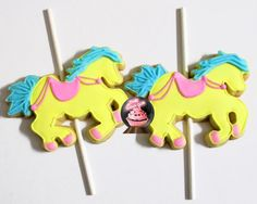 Carousel Birthday Cookies Carousel Horse Horse by TheSugarClub