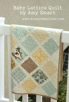 Baby quilt tutorial.