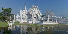 Templo Blanco Wat Rong Khun en Chiang Rai, Tailandia