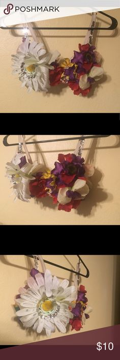 Rave Flower Bra Worn once for pride, homemade Intimates & Sleepwear Bras