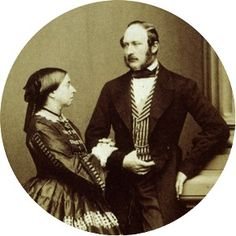Rather Somber looking here, but adorable and Romantic in their day. Victoria and Albert.