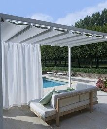 Outdoor Cabana shelter outdoor cabana - manual retractable roof | pool cabana