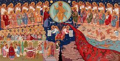 creation icon | Icon of the Last Judgment by the hand of Fr. Luke Dingman