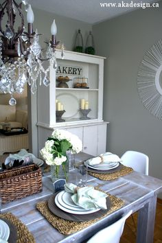 dining room with step back cupboard-AKA Designs