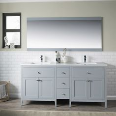 D Double Bath Vanity In Dove Grey With Natural Marble Vanity Top In White |  Pinterest | Marble Vanity Topu2026
