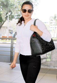 Ameesha Patel at Mumbai airport. #Bollywood #Fashion #Style #Beauty #Hot #Sexy