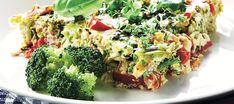 Kasvismunakas uunissa Quiche, Broccoli, Food And Drink, Keto, Vegetables, Breakfast, Desserts, Recipes, Drinks