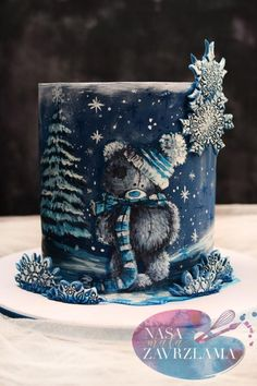 A place for people who love cake decorating. Crazy Cakes, Fancy Cakes, Cute Cakes, Holiday Cakes, Christmas Desserts, Christmas Baking, Christmas Cakes, Fondant Cakes, Cupcake Cakes