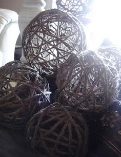 Джутовые декоративные шары - a_la_bieva