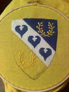 Afonlyn Favor (since finished)  stem stitch, DMC cotton floss.