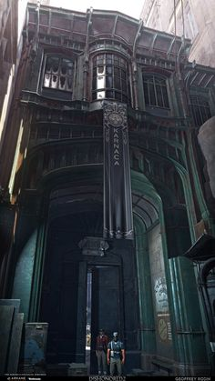 ArtStation - Dishonored : Death of the Outsider // Street gate and Appartements, Geoffrey Rosin