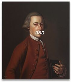 Dazed Digital: What is the American Revolution?  Shawn Huckins: The 'American Revolution Revolution' is a series that combines 18th Century American portraiture with 21st Century lexicons, such as mobile phone texting acronyms, Facebook status updates, and Twitter postings.