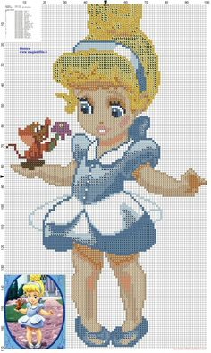 http://my-cross-stitch-patterns.com/little_princess_cinderella_cross_stitch_pattern.html